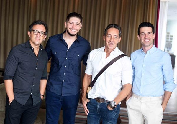 Rodrigo Jorge, Adolfo Fuzinatto, Mario Brasil e Felipe Corradi